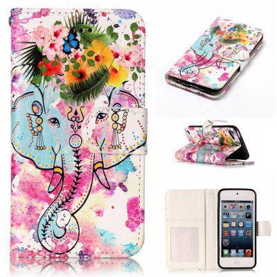 Flower Like Varnish Relief Pu Phone Case for Ipod Touch5 / 6