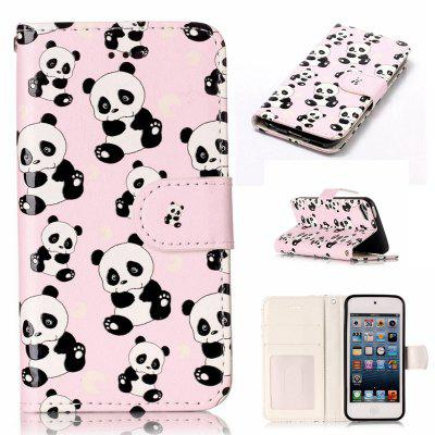 Panda Varnish Relief Pu Phone Case for Ipod Touch5 / 6