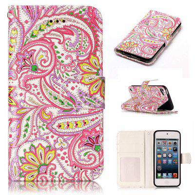 Pepper Flowers Varnish Relief Pu Phone Case for Ipod Touch5 / 6