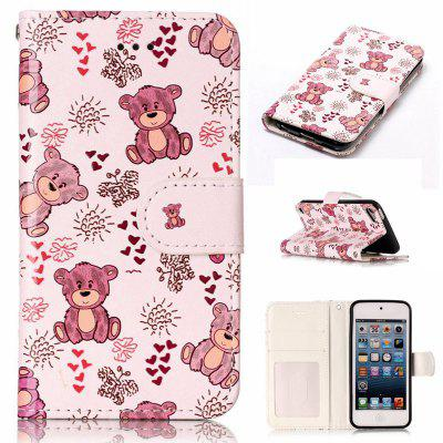 Bear Varnish Relief Pu Phone Case for Ipod Touch5 / 6