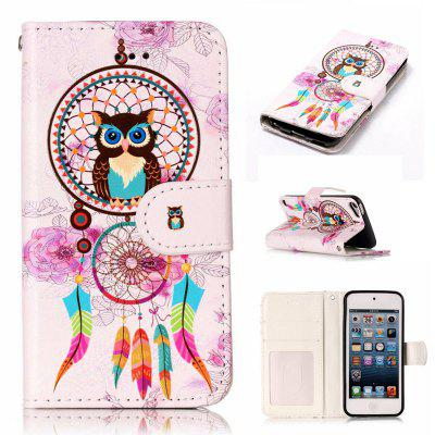 Wind Chimes Owl Varnish Relief Pu Phone Case for Ipod Touch5 / 6