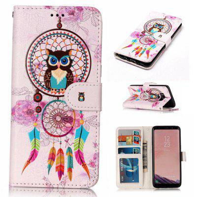 Varnish Relief Pu Phone Case for Samsung Galaxy S8