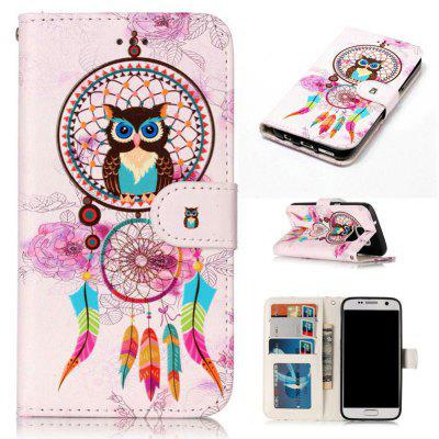 Varnish Relief Pu Phone Case for Samsung Galaxy S7