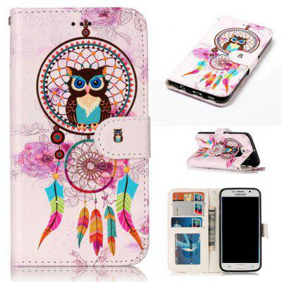 Varnish Relief Pu Phone Case for Samsung Galaxy S6