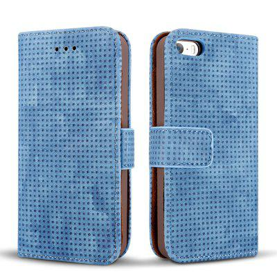 Wkae Retro Matte Breatheable Air-mesh PU Leather Wallet Case Cover with Kickstand Card Slots for iPhone 5 5s SEiPhone Cases/Covers<br>Wkae Retro Matte Breatheable Air-mesh PU Leather Wallet Case Cover with Kickstand Card Slots for iPhone 5 5s SE<br><br>Compatible for Apple: iPhone 5/5S, iPhone SE<br>Features: Cases with Stand, With Credit Card Holder, Anti-knock, Dirt-resistant, FullBody Cases<br>Material: TPU, PU Leather<br>Package Contents: 1 x Phone Case<br>Package size (L x W x H): 20.00 x 15.00 x 2.50 cm / 7.87 x 5.91 x 0.98 inches<br>Package weight: 0.1700 kg<br>Product size (L x W x H): 18.00 x 10.00 x 2.00 cm / 7.09 x 3.94 x 0.79 inches<br>Product weight: 0.1500 kg<br>Style: Vintage, Solid Color