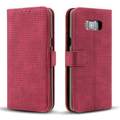 Wkae Retro Matte Breatheable Air-mesh PU Leather Wallet Case Cover with Kickstand Card Slots for Samsung Galaxy S8Samsung S Series<br>Wkae Retro Matte Breatheable Air-mesh PU Leather Wallet Case Cover with Kickstand Card Slots for Samsung Galaxy S8<br><br>Features: Full Body Cases, Cases with Stand, With Credit Card Holder, Anti-knock, Dirt-resistant<br>For: Samsung Mobile Phone<br>Material: TPU, PU Leather<br>Package Contents: 1 x Phone Case<br>Package size (L x W x H): 20.00 x 15.00 x 2.50 cm / 7.87 x 5.91 x 0.98 inches<br>Package weight: 0.1700 kg<br>Product size (L x W x H): 18.00 x 10.00 x 2.00 cm / 7.09 x 3.94 x 0.79 inches<br>Product weight: 0.1500 kg<br>Style: Vintage, Solid Color