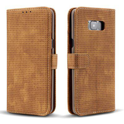 Wkae Retro Matte Breatheable Air-mesh PU Leather Wallet Case Cover with Kickstand Card Slots for Samsung Galaxy S8 PlusSamsung S Series<br>Wkae Retro Matte Breatheable Air-mesh PU Leather Wallet Case Cover with Kickstand Card Slots for Samsung Galaxy S8 Plus<br><br>Features: Full Body Cases, Cases with Stand, With Credit Card Holder, Anti-knock, Dirt-resistant<br>For: Samsung Mobile Phone<br>Material: TPU, PU Leather<br>Package Contents: 1 x Phone Case<br>Package size (L x W x H): 20.00 x 15.00 x 2.50 cm / 7.87 x 5.91 x 0.98 inches<br>Package weight: 0.1700 kg<br>Product size (L x W x H): 18.00 x 10.00 x 2.00 cm / 7.09 x 3.94 x 0.79 inches<br>Product weight: 0.1500 kg<br>Style: Vintage, Solid Color