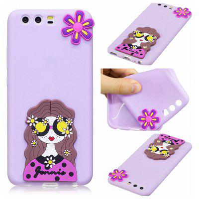 3D Cute Candy Pattern Silicone Soft Back Case for Huawei P10