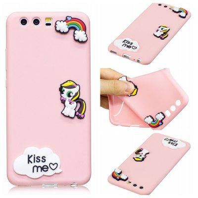 3D Cute Candy Pattern Silicone Soft Back Case for Huawei P10 Plus