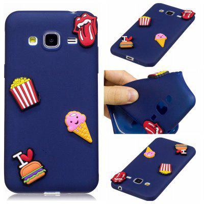3D Cute Candy Pattern Silicone Soft Back Case for Samsung Galaxy J3 2016