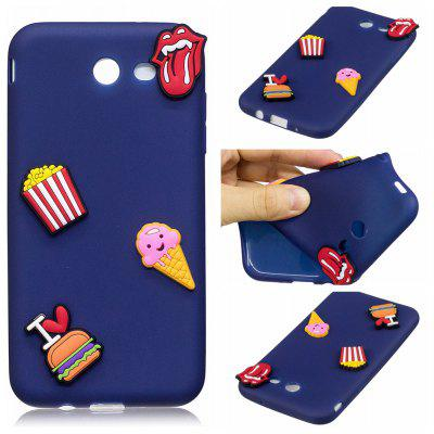 3D Cute Candy Pattern Silicone Soft Back Case for Samsung Galaxy J3 2017 (America Edition)
