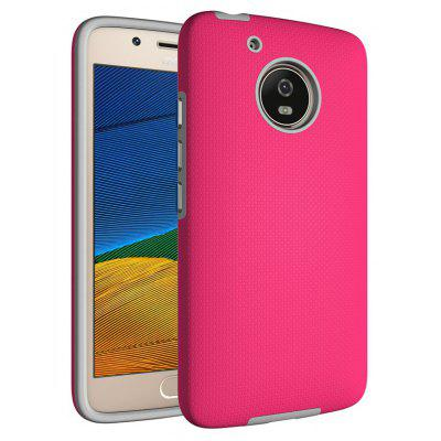 Buy RED Non-slip Surface Shockproof Back PC Case for Motorola Moto G5 for $4.18 in GearBest store