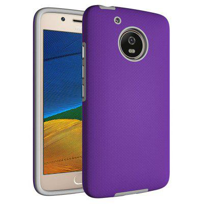 Buy PURPLE Non-slip Surface Shockproof Back PC Case for Motorola Moto G5 for $4.18 in GearBest store