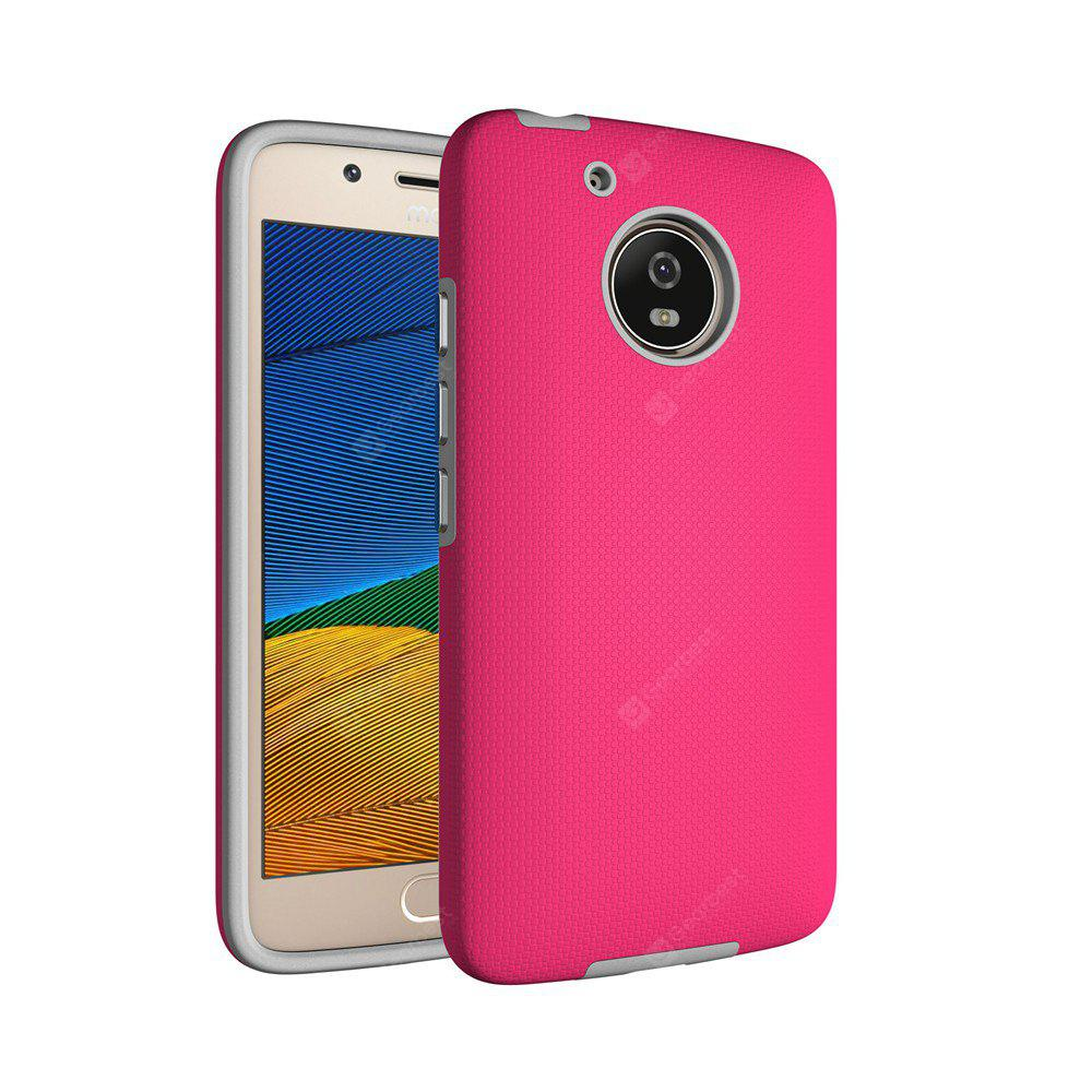 RED Non-slip Surface Shockproof Back PC Case for Motorola Moto G5