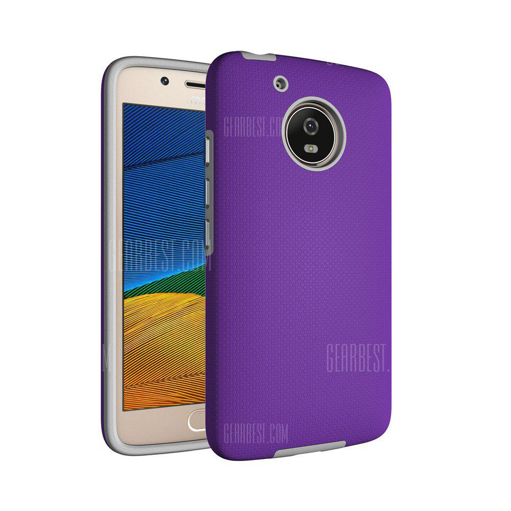 PURPLE Non-slip Surface Shockproof Back PC Case for Motorola Moto G5