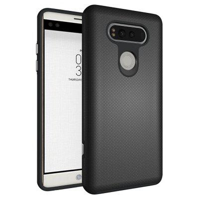 Buy BLACK Non-slip Surface Shockproof Back PC Case for LG V20 for $4.18 in GearBest store