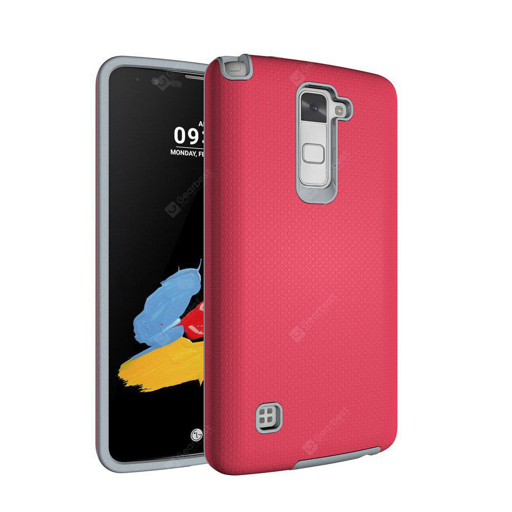 RED Non-slip Surface Shockproof Back PC Case for LG Stylo 2 Plus