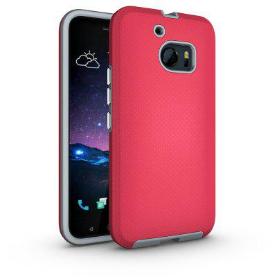 Buy RED Non-slip Surface Shockproof Back PC Case for HTC One M10 for $4.18 in GearBest store