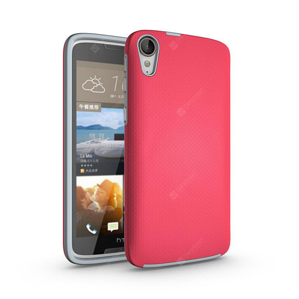 RED Non-slip Surface Shockproof Back PC Case for HTC Desire 828