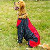 Buy Water-Resistant Reflective Dog Rain Coat M BLACK RED