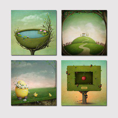 Hx Art No Frame Canvas Four Piece Of Fantastic Modern Living Room  Decoration Painting ... Part 68