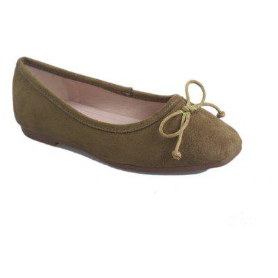The New Flat Comfortable Small Bow Shoes