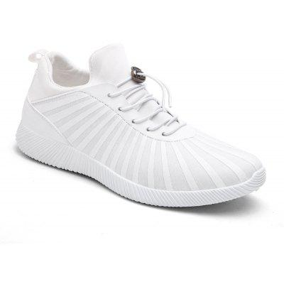 Drawstring Striped Sport Shoes
