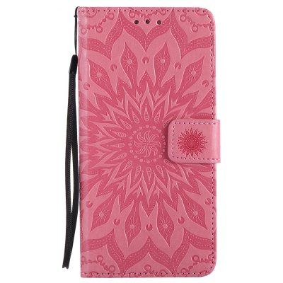 Buy PINK Sun Flower Printing Design Pu Leather Flip Wallet Lanyard Protective Case for Iphone 7 Plus for $4.62 in GearBest store