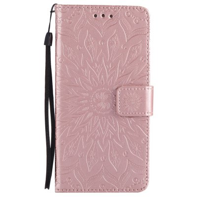 Buy ROSE GOLD Sun Flower Printing Design Pu Leather Flip Wallet Lanyard Protective Case for Iphone 7 Plus for $4.62 in GearBest store