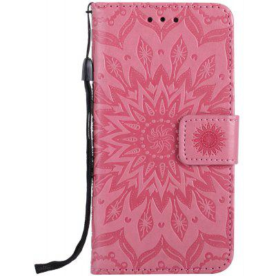 Buy PINK Sun Flower Printing Design Pu Leather Flip Wallet Lanyard Protective Case for Iphone 7 for $4.42 in GearBest store