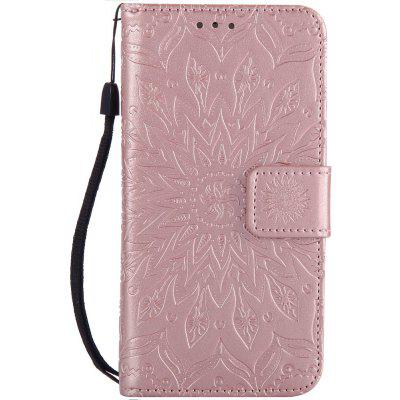 Buy ROSE GOLD Sun Flower Printing Design Pu Leather Flip Wallet Lanyard Protective Case for Iphone 7 for $4.42 in GearBest store