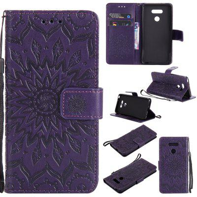Buy PURPLE Yanxn Sun Flower Printing Design Pu Leather Flip Wallet Lanyard Protective Case for Lg G6 for $5.08 in GearBest store