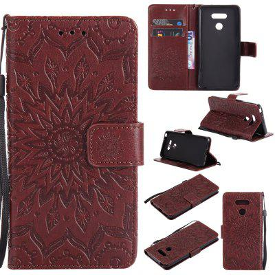Buy BROWN Yanxn Sun Flower Printing Design Pu Leather Flip Wallet Lanyard Protective Case for Lg G6 for $5.08 in GearBest store