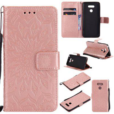 Buy ROSE GOLD Yanxn Sun Flower Printing Design Pu Leather Flip Wallet Lanyard Protective Case for Lg G6 for $5.08 in GearBest store
