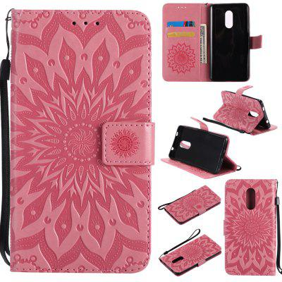 Yanxn Sun Flower Printing Design Pu Leather Flip Wallet Lanyard Protective Case for Xiaomi Redmi Note 4 / 4X