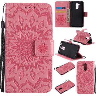 Buy PINK Yanxn Sun Flower Printing Design Pu Leather Flip Wallet Lanyard Protective Case for HUAWEI Honor 6C for $5.08 in GearBest store