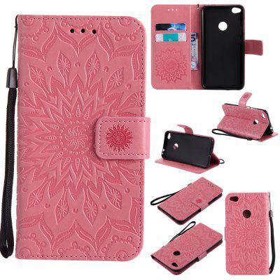 Buy PINK Yanxn Sun Flower Printing Design Pu Leather Flip Wallet Lanyard Protective Case for HUAWEI P8 Lite, 2017 for $5.08 in GearBest store