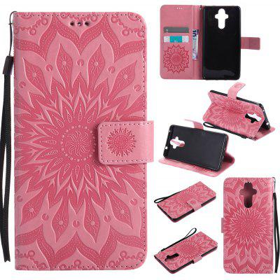 Buy PINK Yanxn Sun Flower Printing Design Pu Leather Flip Wallet Lanyard Protective Case for HUAWEI Mate 9 for $5.08 in GearBest store