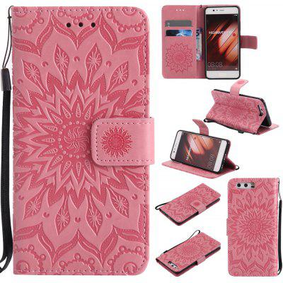 Buy PINK Yanxn Sun Flower Printing Design Pu Leather Flip Wallet Lanyard Protective Case for HUAWEI P10 for $5.08 in GearBest store