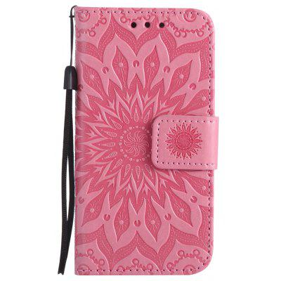 Buy PINK Yanxn Sun Flower Printing Design Pu Leather Flip Wallet Lanyard Protective Case for iPhone Se / 5S / 5 for $4.42 in GearBest store