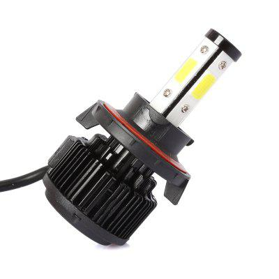 Dicen One Pair of X6 H13car Led Headlight Cob Light SourceCar Lights<br>Dicen One Pair of X6 H13car Led Headlight Cob Light Source<br><br>Apply lamp position: External Lights<br>Apply To Car Brand: Universal<br>Color temperatures: 6500K<br>Connector: H13<br>Emitting color: White<br>Feature: Easy to use, Power saver, Waterproof/Dustproof, Durable high performance, Low Power Consumption<br>Light mode: Steady<br>Lumens: 8000lm/Kit, 3800LM/BULB<br>Material: Aluminum Alloy<br>Package Contents: 2 x Car Led Headlight, 1 x English User Manual<br>Package size (L x W x H): 18.30 x 12.60 x 5.10 cm / 7.2 x 4.96 x 2.01 inches<br>Package weight: 0.4000 kg<br>Power: 36W<br>Type: Car LED, Head Lamp<br>Type of lamp-house: LED<br>Voltage: 9 - 32V