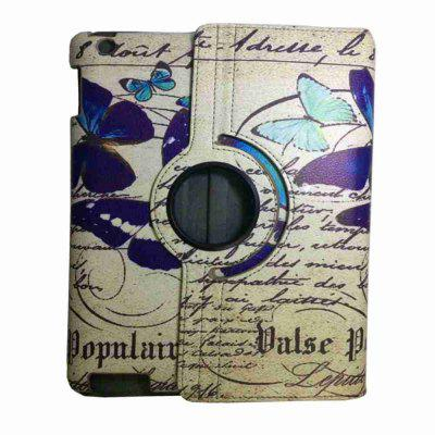 Retro 360 Degree Rotating Protective Butterfly Painted Pu Tablet Case for Ipad 2 / 3 / 4