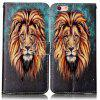 Lion Varnish Relief Pu Phone Case for Iphone 6S Plus / 6 Plus - COLORMIX