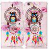 Wind Chimes Orelha da coruja Relief Pu Phone Case para Iphone 6S / 6 - COR MISTURA