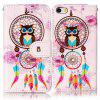 Wind Chimes Owl Varnish Relief Pu Phone Case for iPhone 5 / 5S / SE - COLORMIX