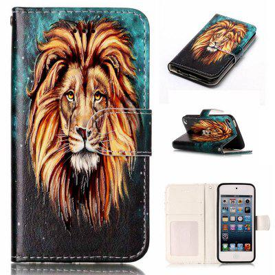 Lion Varnish Relief Pu Phone Case for Ipod Touch5 / 6