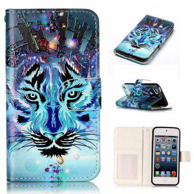 Wolf Varnish Relief Pu Phone Case for Ipod Touch5 / 6