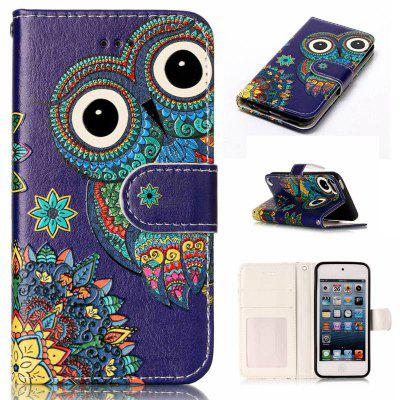 National Wind Owl Varnish Relief Pu Phone Case for Ipod Touch5 / 6