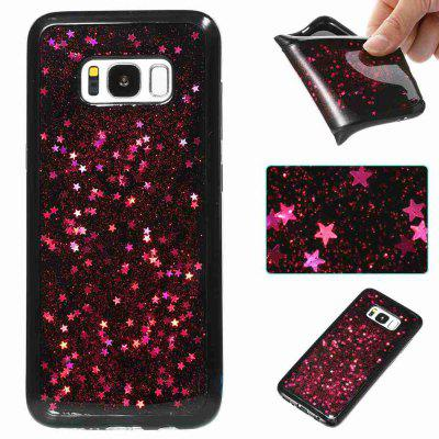 Black Five-Pointed Star Painted Dijiao Tpu Phone Case for Samsung Galaxy S8