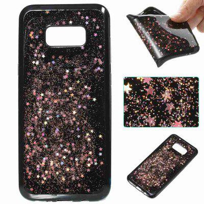 Black Five-Pointed Star Painted Dijiao Tpu Phone Case for Samsung Galaxy S8 Plus